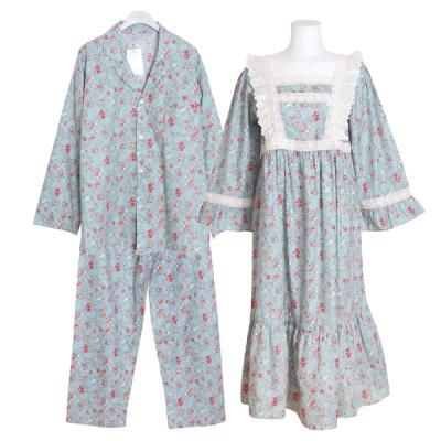 [쿠비카]스퀘어 넥 투라인 원피스 커플잠옷 WM242