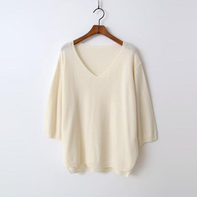 Cashmere N Wool V-Neck Unbal Sweater