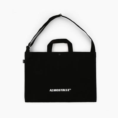 [얼모스트블루] ALMOSTBLUE LOGO 2WAY CROSS BAG