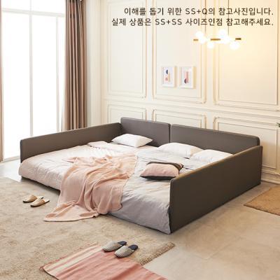 레이백 슬림 패밀리침대 ㄷ형 SS+SS (매트별도)