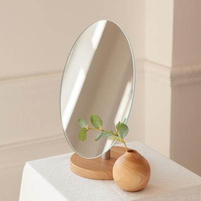 노프레임 우드 받침 탁상용 거울 테이블