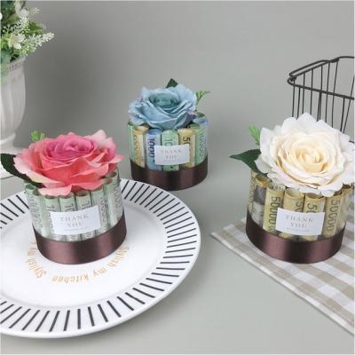 장미 용돈 플라워 케이크 DIY