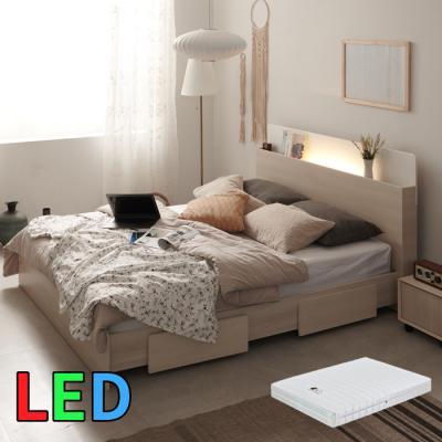 모델하우스 LED조명 침대 수퍼싱글(스프링매트) KC142