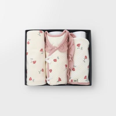 [메르베]로맨틱로지 출산선물세트(저고리+속싸개+모자