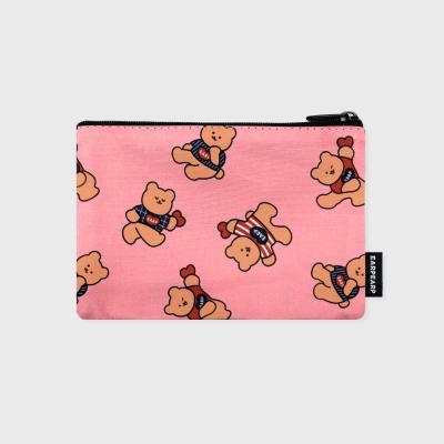 Dot dancing bear-pink(파우치)(S)