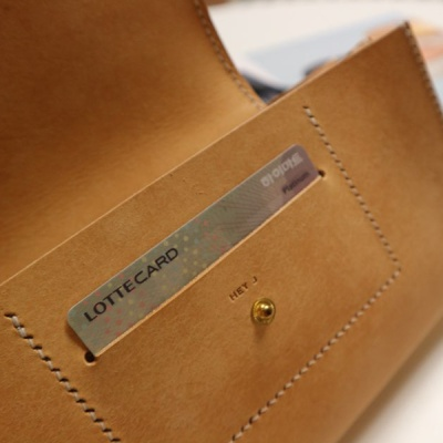 베지터블 가죽클러치 지갑