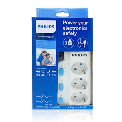 필립스 멀티탭/정품/3구1.5~3M/LED램프/절전형