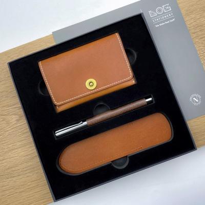 Gift Set -CW303S(카드지갑,우든펜 RP-303,펜슬리브)