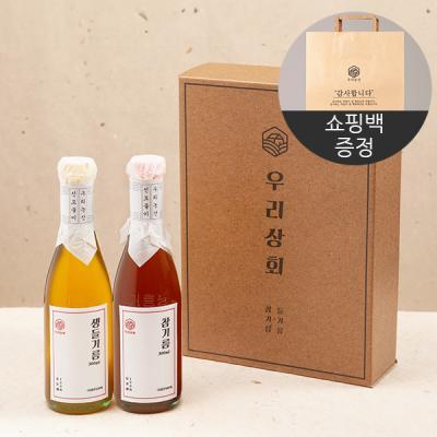 [우리상회]국내산 참기름+생들기름 선물세트