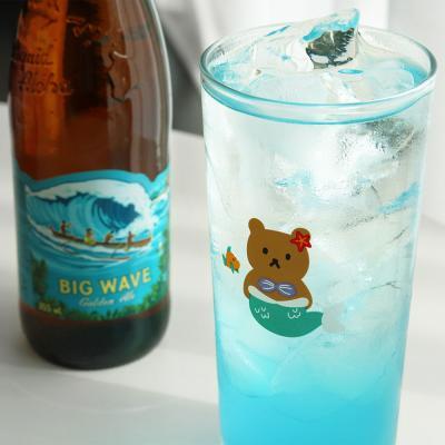 LAZYTHING mermaid kid bear long glass 435ml