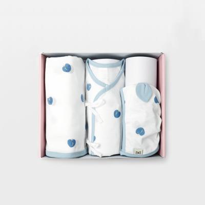 [메르베] 블루베리 여름출산세트(저고리+속싸개+모자)
