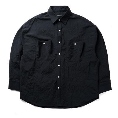 크리스 포켓 오버셔츠 (블랙)