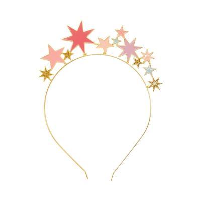 [빛나파티]로즈 메탈 별 머리띠 파티머리띠