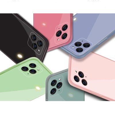 아이폰12/12미니/ 카메라보호 컬러 강화유리 폰케이스