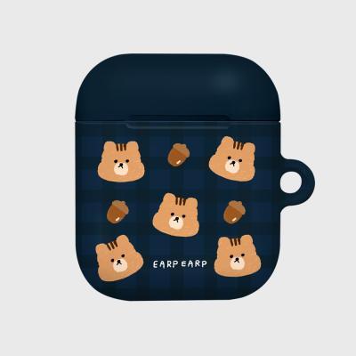 Check squirrel acorns-navy(Hard air pods)