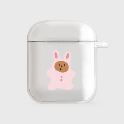 rabbit gummy [clear 에어팟케이스]