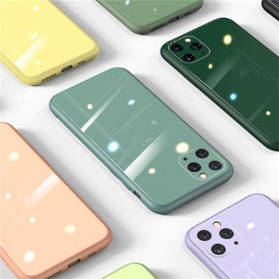 아이폰 12/pro 파스텔 컬러 클리어 강화유리 폰케이스