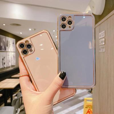 아이폰12 미니 pro max 글로시 골드 라인 젤리 케이스