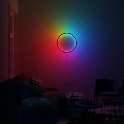 북유럽 RGB 서클 거실 침실 카페 벽걸이 조명