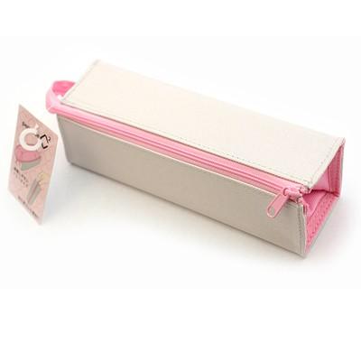 코쿠요 C2 사각필통-라이트그레이+핑크