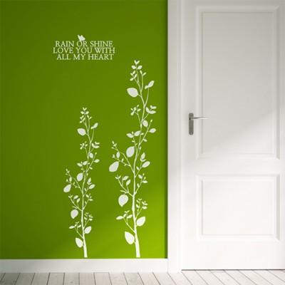 나무줄기(줄기1개) (반제품B)  그래픽스티커 포인트 시트지 인테리어 스티커