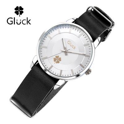[Gluck]글륵 행운의 시계 GL2302-WHBK 나토 18mm 본사정품
