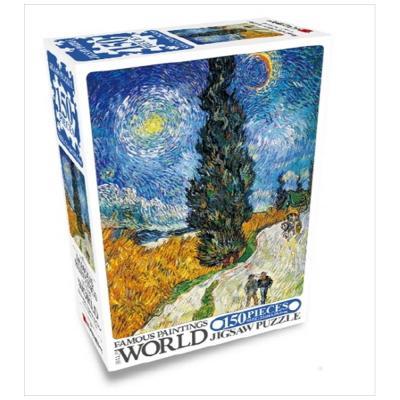 세계명화 직소 150 사이프러스나무와 별이 있는 길