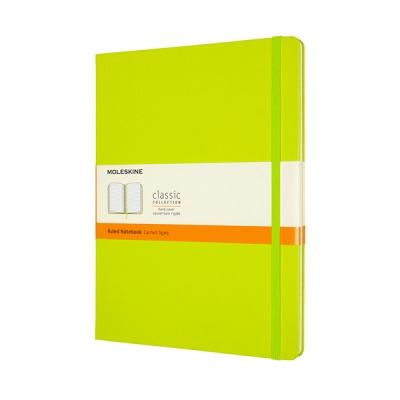 몰스킨 클래식노트-룰드/레몬 그린-하드 XL