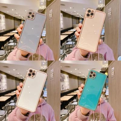 아이폰SE2 8 7+ 골드라인 슬림 글리터 실리콘 케이스