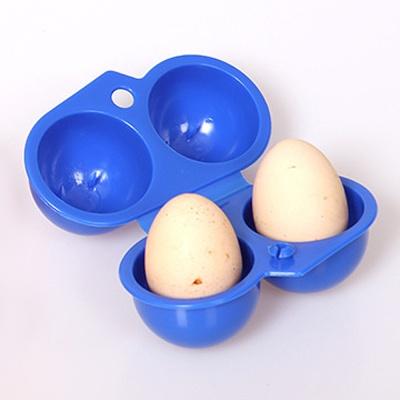캠핑랜드 휴대용 2구 계란케이스/ 달걀보관함