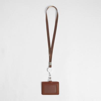 지갑형 사원증 케이스+목걸이줄(브라운) 릴홀더