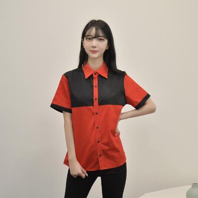 컬러 배색 반팔셔츠 (3colors) 남녀공용 티셔츠