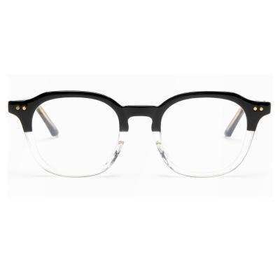 shine 블랙 투명 반반 뿔테 안경 뿔테 패션안경