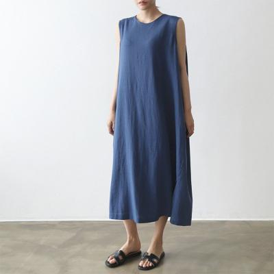 Row Linen Long Dress - 민소매