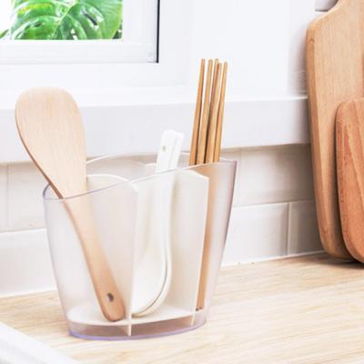 주방 투명 칸막이 수저통 수저 보관함 꽂이 정리함