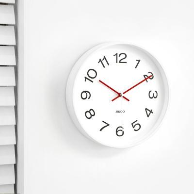 화이트무소음벽시계/건전지포함