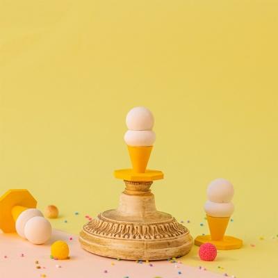 차가운 아이스크림 방향오브제 세트