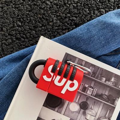 에어팟케이스 1/2/3 PRO SUP 자물쇠 실리콘 고리세트