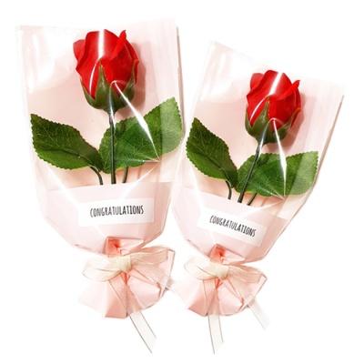 장미꽃 한송이 꽃다발(5인용)