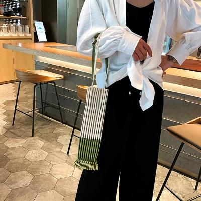 플리츠가방 에코 숄더 데일리 캔버스백 올리브