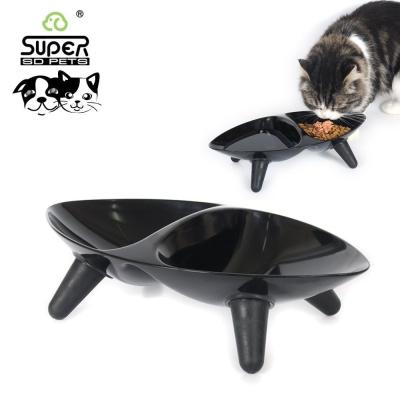 수퍼펫 올리브 식탁 (블랙) (고양이 식기)