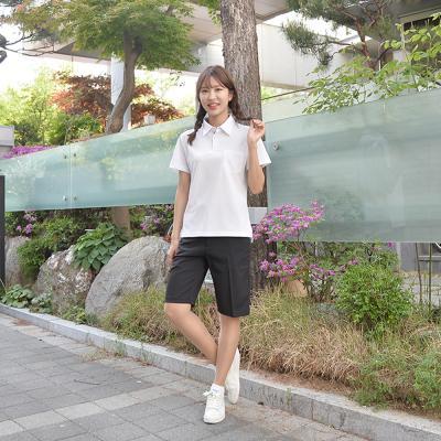 [빅사이즈] 스판 블랙 교복 반바지(여자) ~6XL