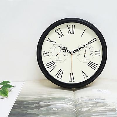 엔틱로만온습도벽시계