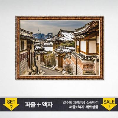 1000조각 직소퍼즐▶ 북촌거리+앤틱골드 PK1000-3159s