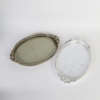 큐티메탈 루비 화장품 정리 수납 쟁반 라지-2색상