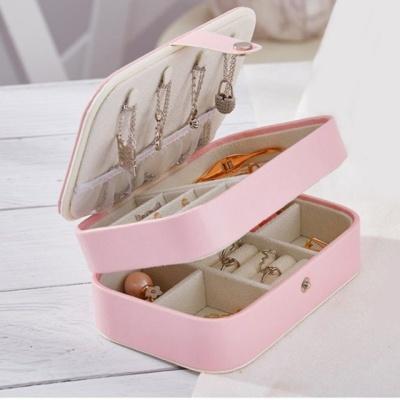 쥬얼리 귀걸이 반지 플라워 2단 액세서리 보석함 핑크