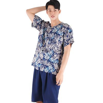 테라우드 커플잠옷 남성용 풍기인견 상하 메이플럽