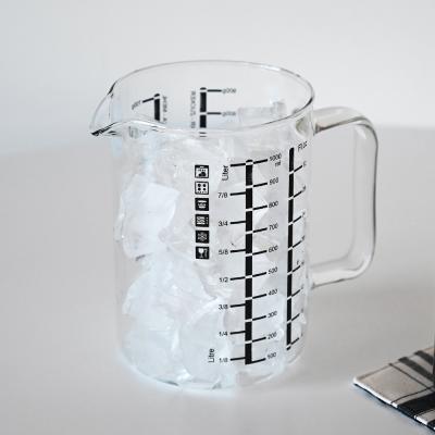 오븐사용가능 모스 내열유리 계량컵 1L
