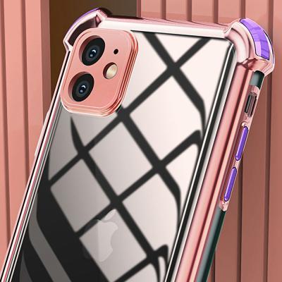 P474 아이폰6S플러스 컬러 라인 클리어 젤리 케이스