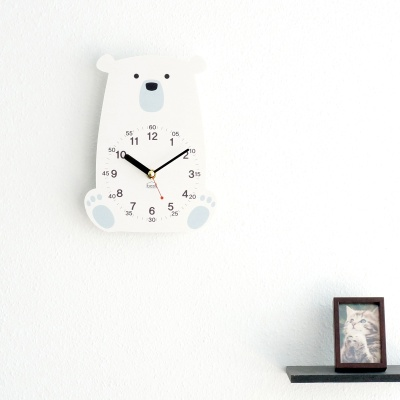 아이방 인테리어 교육용 무소음 탁상시계-북극곰 외